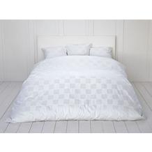 Fischbacher Bettbezug 339 Carre weiß 10 Decken 135 x 200 cm