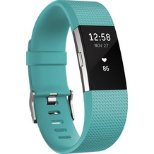 FitBit Charge 2, Teal Silver, Small