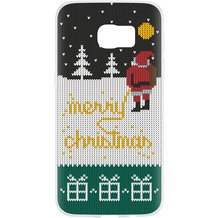Flavr Case Ugly Xmas Sweater Yellow Snow for Galaxy S7 Edge colourful