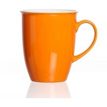 Flirt by R&B Kaffeebecher Porzellan 9x9x10cm rund 320ml DOPPIO orange