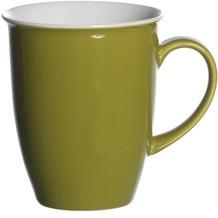 Flirt by R&B Kaffeebecher Porzellan 8x8x10cm konisch 320ml DOPPIO grün