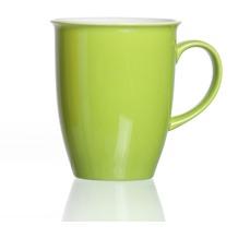 Flirt by R&B Kaffeebecher Porzellan 9x9x10cm rund 320ml DOPPIO grün