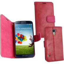 Fontastic PU Tasche Diary Twin pink für Samsung Galaxy S4