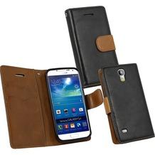 Fontastic PU Tasche Diary Twin schwarz für Samsung Galaxy S4