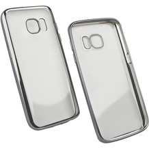 Fontastic Softcover Clear Metallic Ultrathin Space Grau für Samsung Galaxy S7