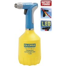 Gloria Batterie/Akku Feinsprüher AutoPump Mini 1 Liter mit LED Licht