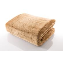 Gözze Mikrofaserdecke in Cashmere-Qualität,sand  500 g/m² 180x220 cm