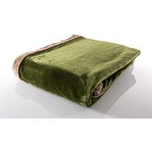 Gözze Seiden Feeling Decke dunkelgrün 150 x 200 cm