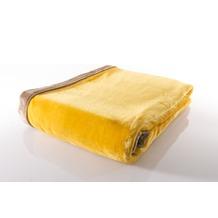 Gözze Seiden Feeling Decke gelb 150 x 200 cm