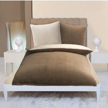 Gözze Wendebettwäsche in Cashmere-Qualität, taupe/wollweiß Wendebettwäsche in Cashmere-Qualität, 300 g/m² 135x200 + 80x80 c