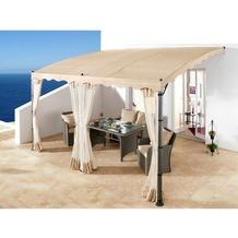 Grasekamp 3 Seitenteile Anbaupergola Mallorca -  Sand Sand