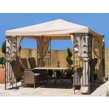 Grasekamp Blätter-Pavillon 3x3m - Sand Sand