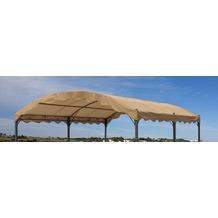 Grasekamp Ersatzdach zu Bogenpergola 3x4m Taupe  Pavillon Pergola Taupe