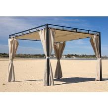 Grasekamp Flachdachpergola Firenze 3x3 Meter Sand Sand/Beige