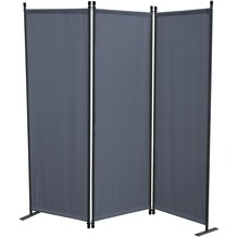 Grasekamp Paravent 3tlg Raumteiler Trennwand  Sichtschutz Grau Grau
