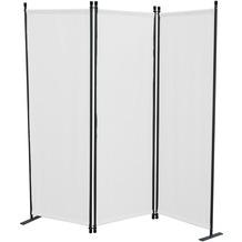 Grasekamp Paravent 3tlg Raumteiler Trennwand  Sichtschutz Weiß Weiß