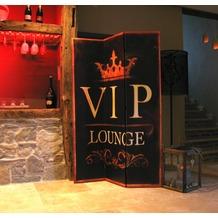 Grasekamp Paravent 3tlg Raumteiler Trennwand VIP  LOUNGE Antik Druckmotiv VIP Lounge