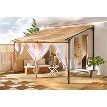 Grasekamp Rollpavillon Terrassendach 3x4m Sand Set
