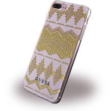 Guess 3D Effect Aztec Tribal - Silikon Cover - Apple iPhone 7 Plus - Light Pink