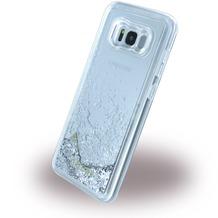 Guess Liquid Glitter - Hardcover - Samsung G955F Galaxy S8 Plus - Silber