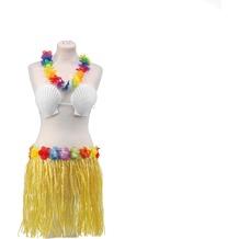TIB Heyne Hawaii-Set 3-teilig: Hawaii- Kette, Bikini & Rock Länge 40 cm, 1 Set