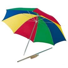 Happy People Strand-Sonnenschirm Ø ca.150cm umwandelbar zum Regenschirm, 8 bunte Felder