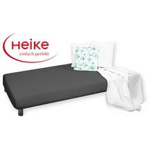 HEIKE Jersey comfort Spannbetttuch dunkelgrau 90 - 100x200 cm