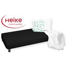 HEIKE Jersey comfort Spannbetttuch schwarz 90 - 100x200 cm