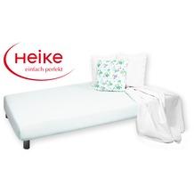 HEIKE Jersey comfort Spannbetttuch weiß 90 - 100x200 cm