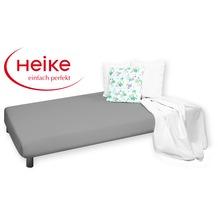 HEIKE Mako-Jersey Spannbetttuch anthrazit 90 - 100x200 cm