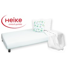 HEIKE Mako-Jersey Spannbetttuch weiß 90 - 100x200 cm