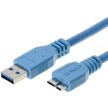 Helos USB 3.0 Kabel Stecker A auf Micro B, 5,0 m