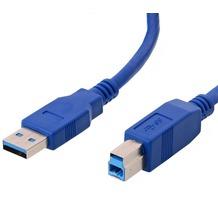 Helos USB 3.0 Kabel Stecker A auf Stecker B, 5,0 m