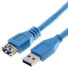 Helos USB 3.0 Kabel Stecker A / Kupplung A, 5,0 m
