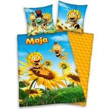 Herding Biene Maja 3D Bettwäsche 135x200cm + 80x80cm gelb