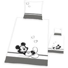 Herding Mickey Mouse Partner-Bettwäsche mit RV / Zipper 80x80+155x220 cm