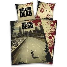 Herding Microfaser-Bettwäsche The Walking Dead, braun-rot 135x200 + 80x80 cm