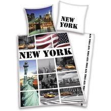Herding Renforcé Bettwäsche New York 80x80 + 135x200 cm