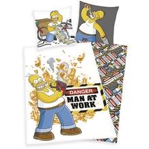 Herding Simpsons Bettwäsche mit RV / Zipper 80x80+135x200 cm