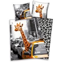 Herding Young Collection New York Safari Bettwäsche 135x200cm + 80x80cm grau/weiß