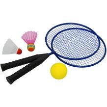 HUDORA Federballset Fun, 2 Stahlschläger, 3 verschiedene Bälle