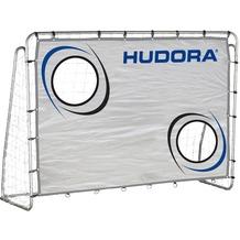HUDORA Fußballtor Trainer mit Torwand, 213 x 152 x 76 cm, 25 mm Rohrdurchmesser