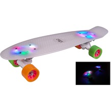 HUDORA Skateboard Rainglow LED