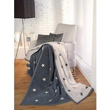 ibena Jacquard Decke Messina grau/weiß 150 x 200 cm