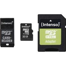 Intenso microSD Card Adapter Set 32 GB, microSDHC + USB & SD Adapter