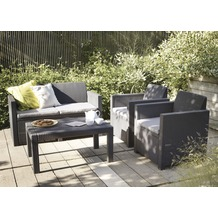 Jardin Merano Lounge (Ohne Polster), Set graphit Kis. grau,100% Polyester