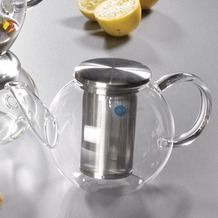 Jenaer Glas Teekanne mit Edelstahlsieb 0,4l Good Mood