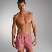 Jockey Boxer Shorts Webboxer, Kariert a-red 4XL