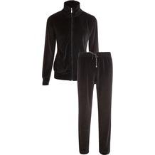 Jockey Loungewear Hausanzug, Nicky, uni Oberteil mit Stehkragen, RVS und Bündchen am Arm, 2 Seitentaschen, gerade Hose uni mit Kordel und 2 Taschen black 4XL