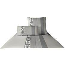 JOOP! Mako-Satin Bettwäsche Ornament Stripe, graphit Kissenbezug 40x80 cm